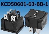 Сдвоенный клавишный переключатель KCD50601 реализует функцию ON-OFF-ON