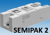 Быстрый диодный модуль SKKD170F12 выдерживает средний прямой ток 170А
