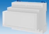 Пластиковый корпус 161, шириной в шесть модулей, предназначен для монтажа на DIN-рейку