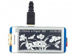 E-INK дисплей с диагональю 2.13 дюйма и разрешением 250 х 122 для Raspberry PI
