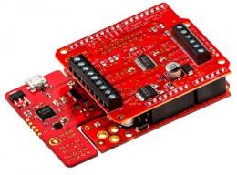 Arduino совместимая оценочная плата управления DC двигателями на основе драйвера TLE94112EL