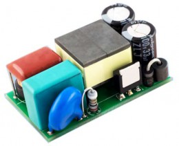 Отладочная плата 18 Вт понижающего преобразователя на основе микросхемы драйвера светодиодов Infineon ICL8201