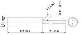 Недорогие кварцевые резонаторы 32,768 кГц в цилиндрическом корпусе CFS-308/DT38
