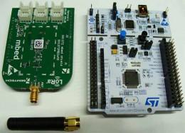 Малопотребляющий беспроводной комплект P-NUCLEO-LRWAN1 на базе NUCLEO-L073RZ и платы расширения LoRa