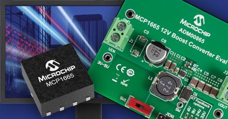MCP1665 — повышающий 36V DC-DC регулятор c током ключа 3.6A от Microchip